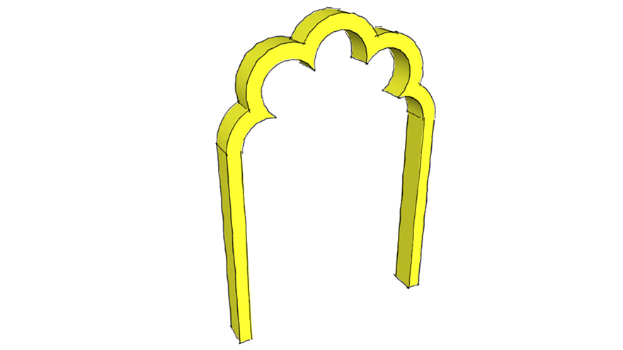 cinquefoil arch
