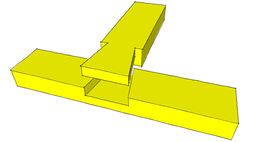 dovetail crossed lap joint