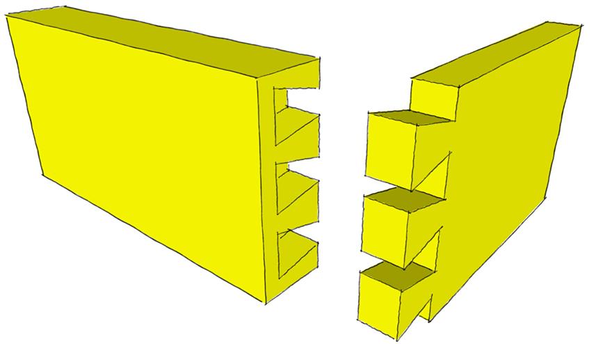 half blind dovetail joint