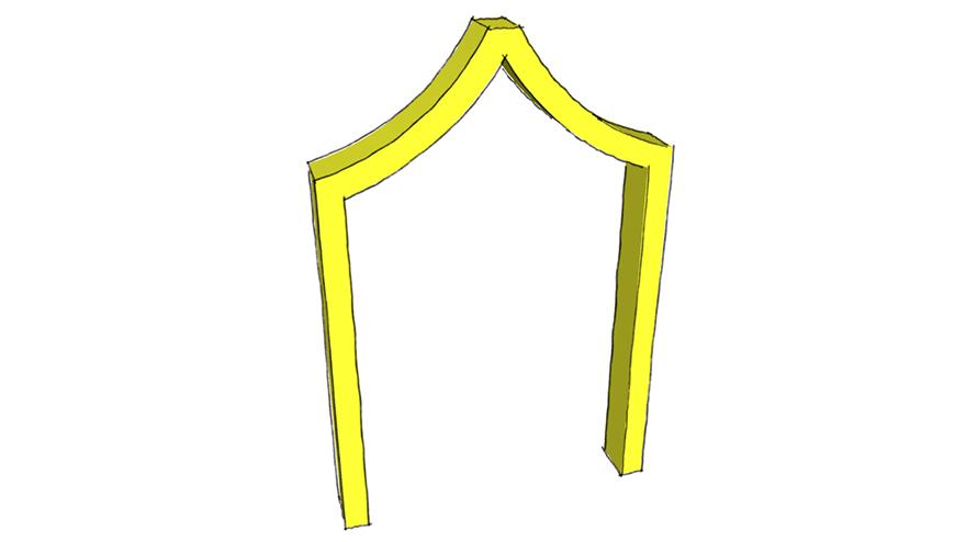 inflexed arch