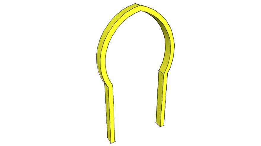 pointed horseshoe arch