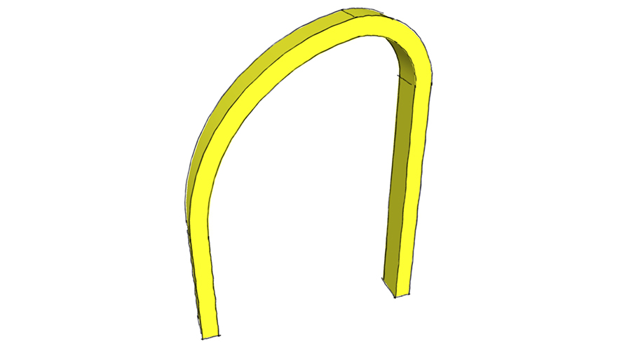 round rampant arch