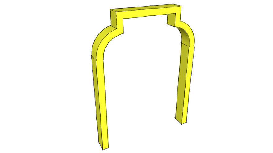 shouldered flat arch
